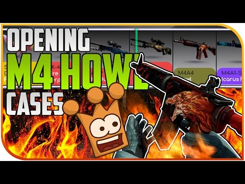 Jagd auf die M4 HOWL !! M4 HOWL Cases opening - CS:GO Drakemoon unboxing