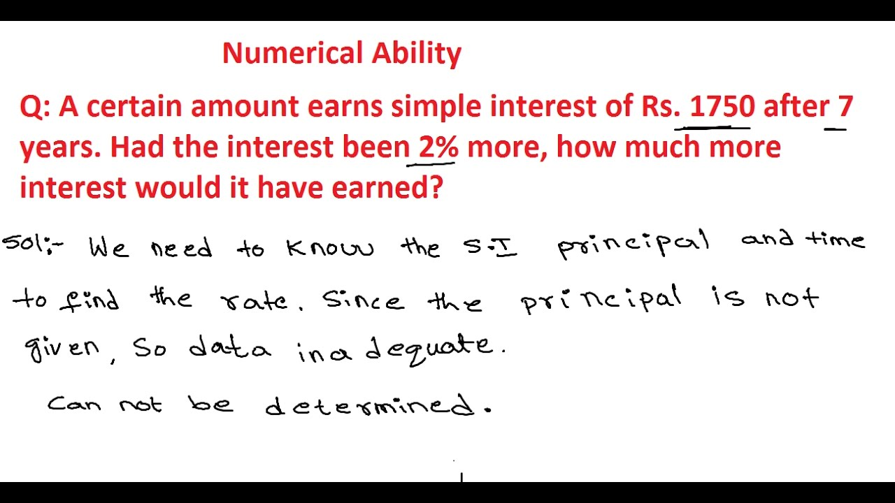 Simple Interest and Compound Interest Questions and Answers | Numerical  Ability 11