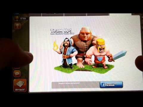 How to connect to Facebook on clash of clans