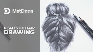 Realistic Hair Drawing | MET DAAN