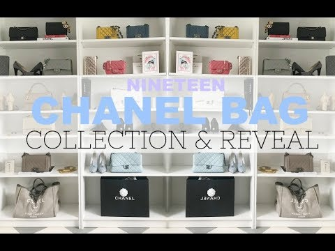 (NINETEEN) CHANEL BAG COLLECTION & A CHANEL BAG REVEAL | CHANEL HAUL | IAM CHOUQUETTE