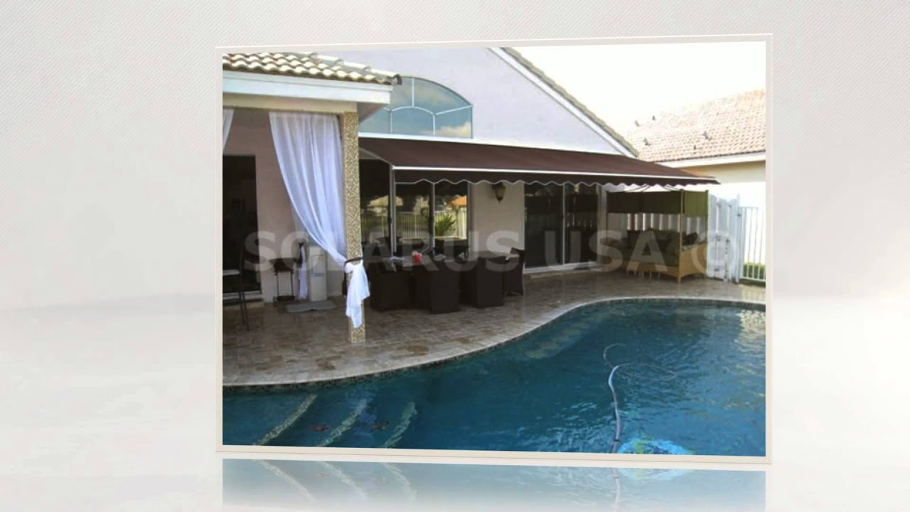 Courtyard Awnings Delray Beach Florida - YouTube
