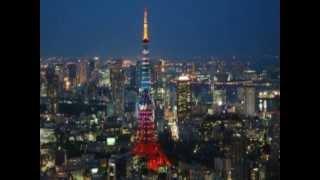 東京タワー 浅草寺 富士山 東京の夜景 sadaoterai tokyo tower.