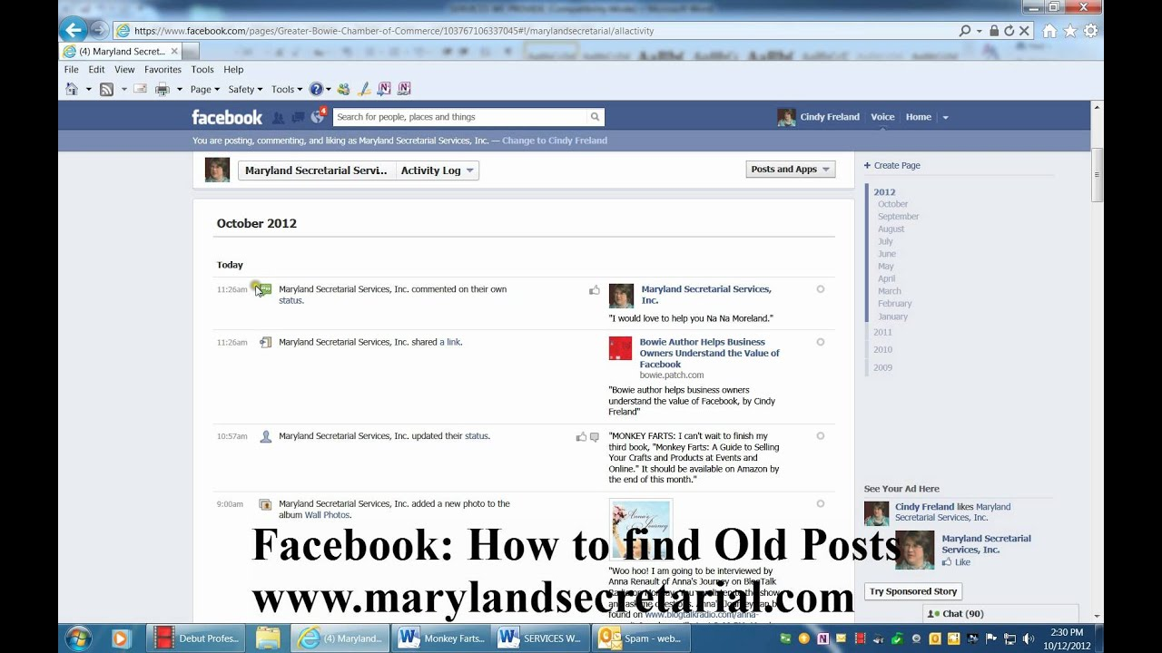 how to search timeline on facebook