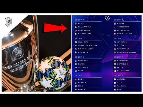 Inilah Hasil Lengkap Undian Fase Grup Liga Champions UEFA 2019/20
