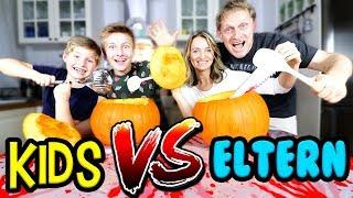 🎃 Halloween Kürbis schnitzen 👻 Kinder vs. Eltern Challenge 👨👨👧👧 TipTapTube