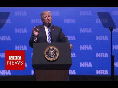 Trump: Knife blood on UK hospital floors - BBC News
