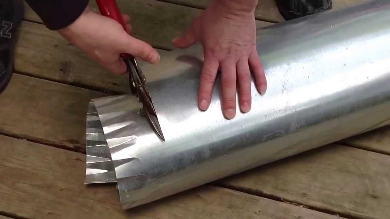 How To Cut Round Ductwork Youtube Hvac Ducting Drawing Pictures
