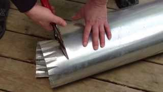 How to cut round ductwork