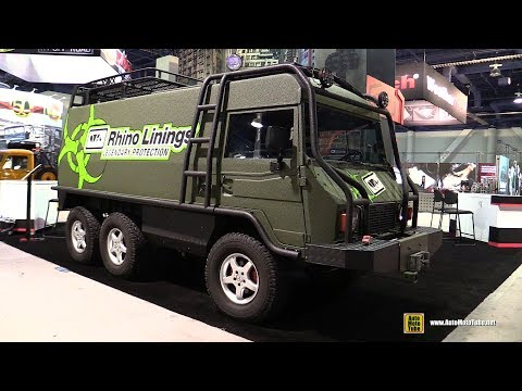 Pinzgauer 712 Bug Out Military Vehicle with Rhino Linings Protection - Walkaround - SEMA 2016