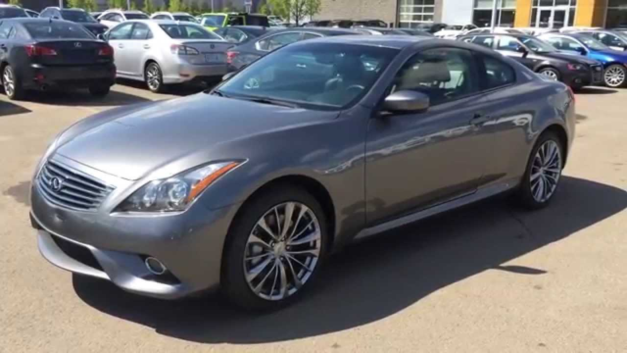 Superb Pre Owned Grey On Black 2011 Infiniti G37xS Coupe 2dr Auto Sport AWD   St.  Albert, Edmonton, AB
