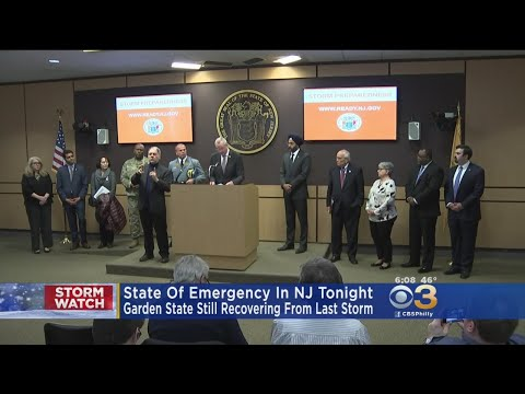 New Jersey Governor Declares State Of Emergency Will Go Into Effect Tonight Ahead Of Nor'easter