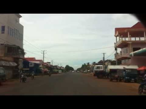 Street Driving to Kampong Thom province, Cambodia travel