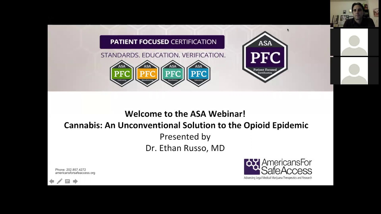 Cannabis An Unconventional Solution To Opioid Crisis Webinar Youtube