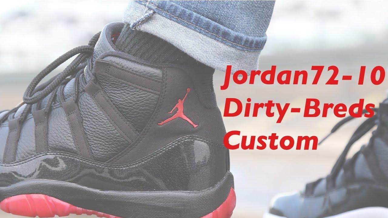 4d4bb7e604f99b Dirty Bred 11 s from the Air Jordan 72-10 - YouTube
