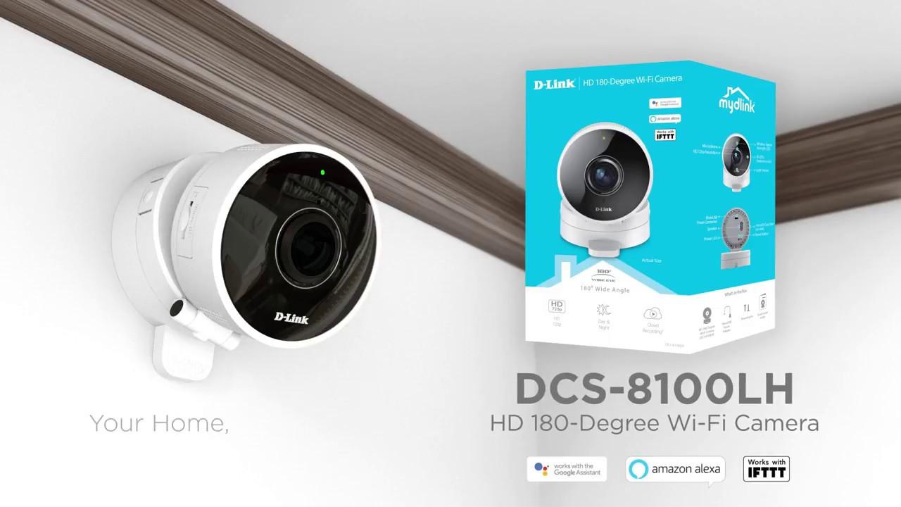 D Link Dcs 8100lh Hd 180 Degree Wi Fi Camera