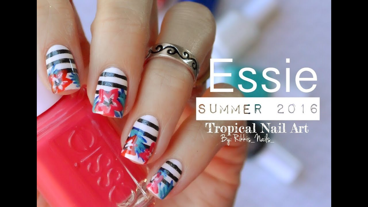 tropical summer nail art essie