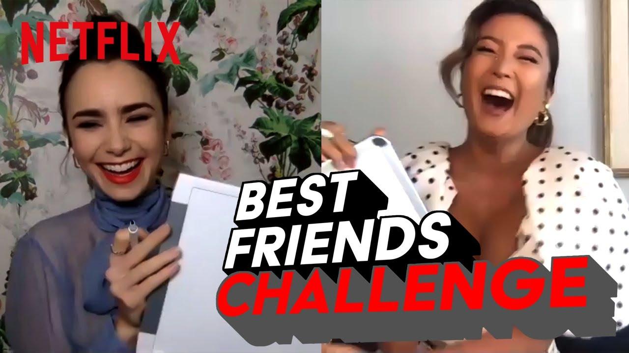 Lily Collins & Ashley Park   BEST FRIENDS CHALLENGE   Emily in Paris   Netflix