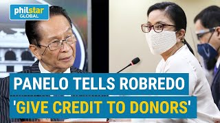 Panelo to Robredo: Give credits to donors