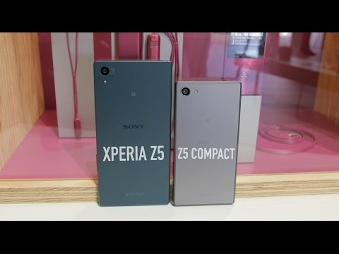 Sony Xperia Z5 and Z5 Compact Hands On and Impressions!