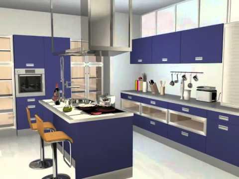 Dise o de cocinas con teowin youtube for Programa diseno cocinas 3d gratis