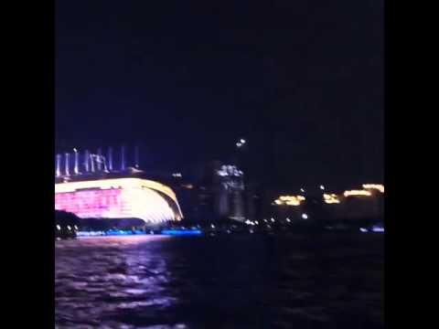 China Guangzhou city at night