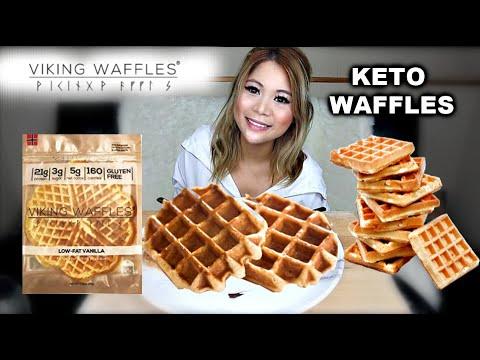 viking-waffles-in-4-ways-|-keto-waffles-|-(mukbang)