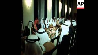 SYND 26 3 76 KING KHALED 2 DAY VISIT TO BAHRAIN