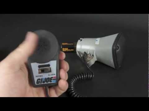 G.I. Joe USS Flagg Microphone and Loudspeaker demonstration