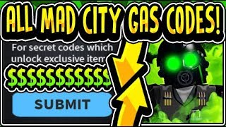 """☣ALL MAD CITY SEASON 3 GAS UPDATE CODES 2019!!"" Mad City NEW ☣GAS☣ WEAPONS UPDATE (Roblox)"