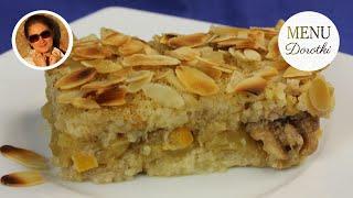 Ryż z jabłkami, zapiekany z migdałami. Doskonały jako danie główne lub deser. MENU Dorotki.