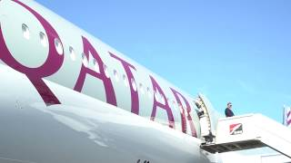 Opening day of Kuwait Aviation Show 2020 | Qatar Airways
