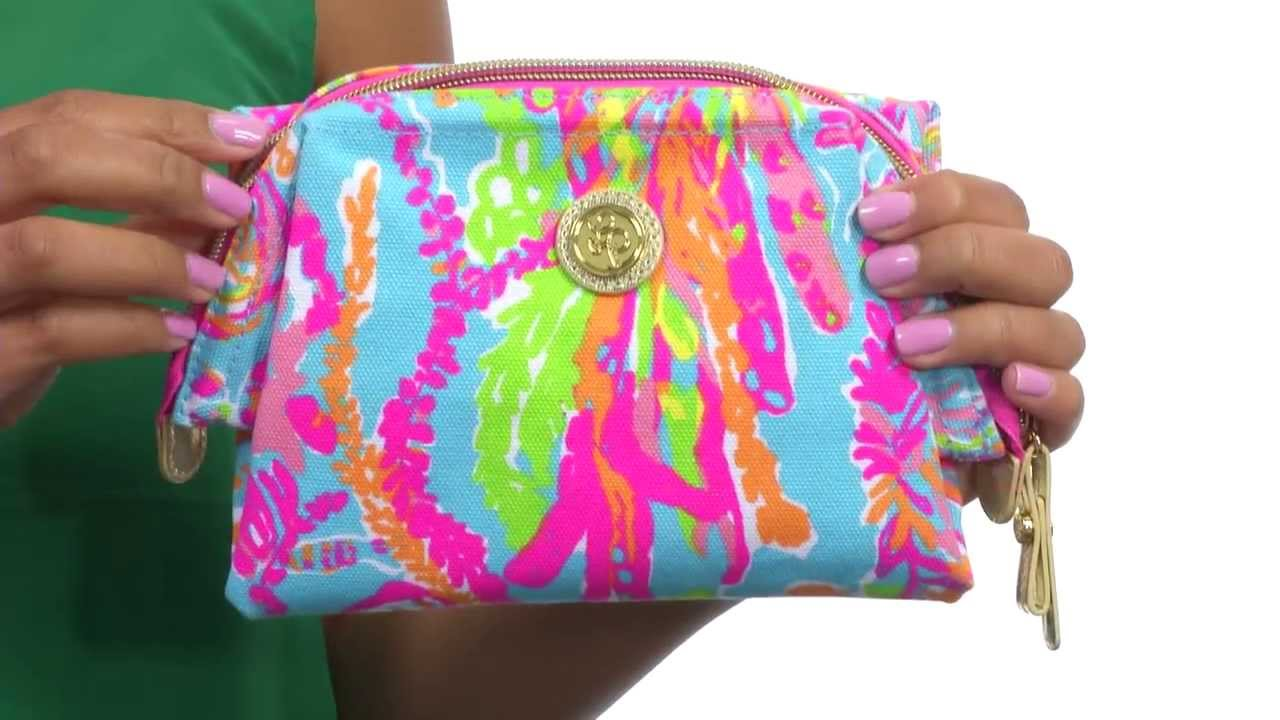 d41b788dc6d2 Lilly Pulitzer - Waterside Cosmetic Case SKU 8593639 - YouTube