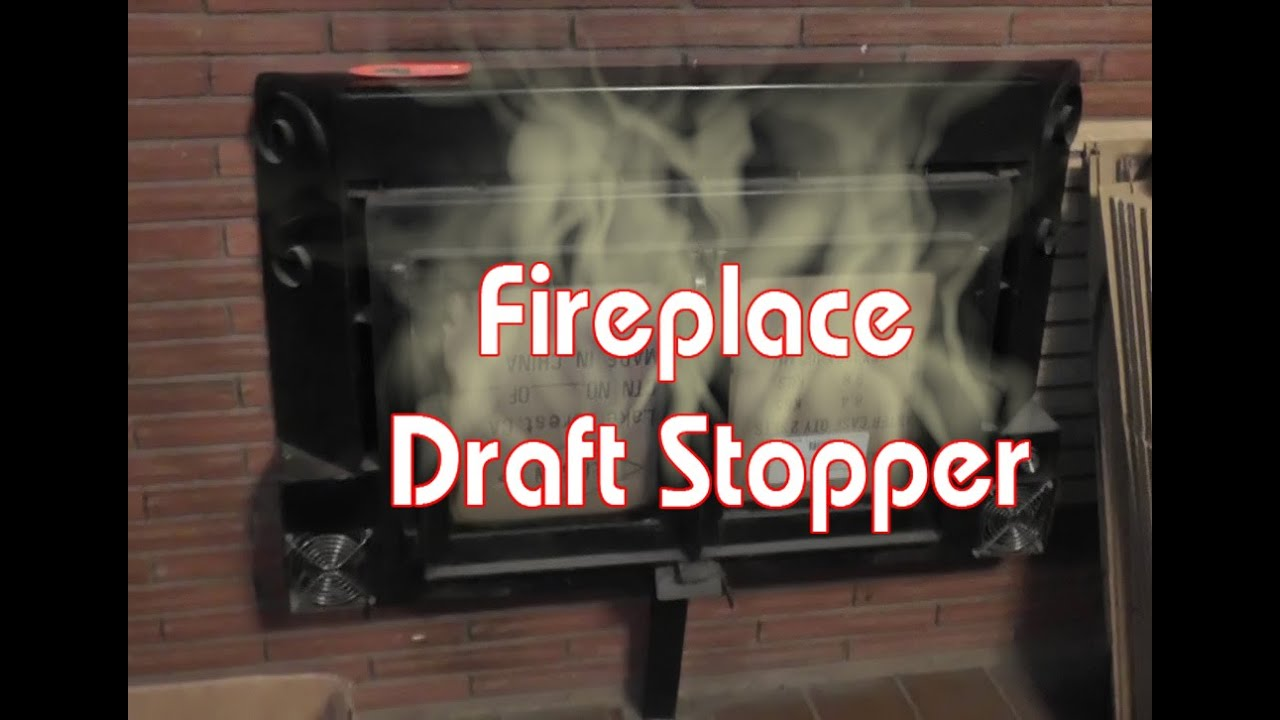 Fireplace draft stopper cheap diy youtube solutioingenieria