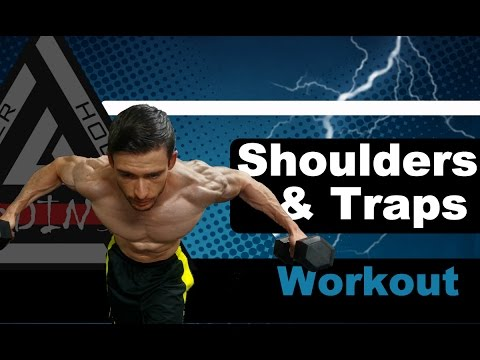 Shoulders and Traps Workout Routine at Home - Burn Fat and Build Muscle
