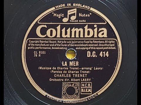 Charles Trenet 'La Mer' 1946 78 rpm