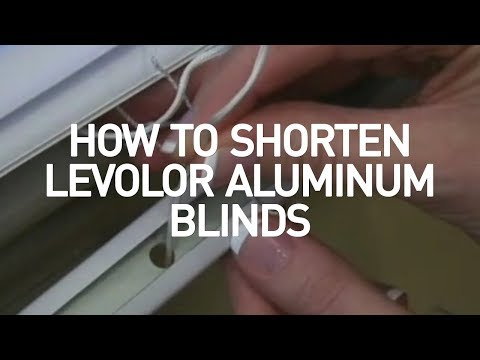 How to Shorten Mini Blinds - Levolor Aluminum and Vinyl Blinds