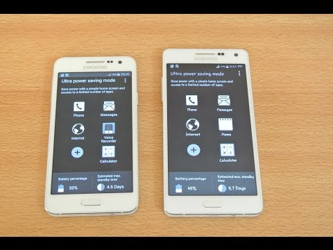 Samsung Galaxy A5, A3, A7 - ULTRA Power Saving Mode Review HD