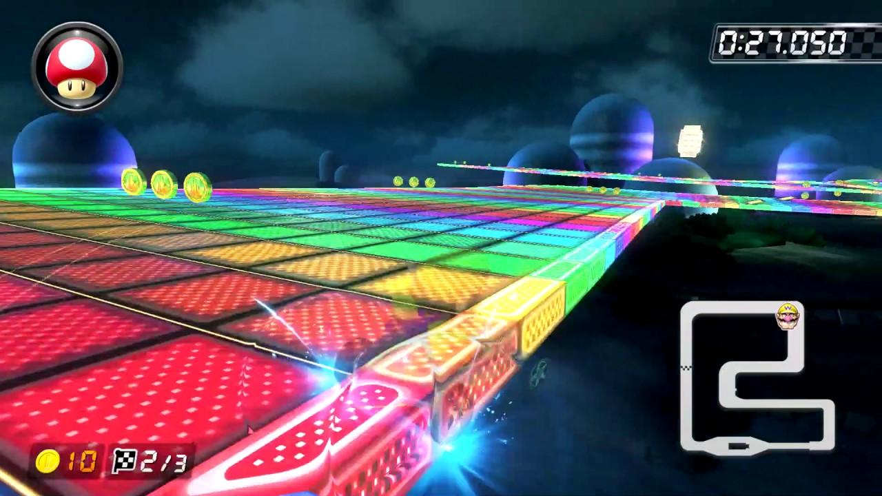 SNES Rainbow Road [200cc] - 1:03.930 - Ren (Mario Kart 8 Deluxe World Record)