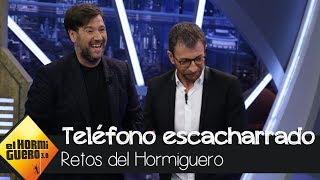 Pepe Viyuela y Antonio Garrido juegan al teléfono escacharrado de Carlos Latre - El Hormiguero 3.0