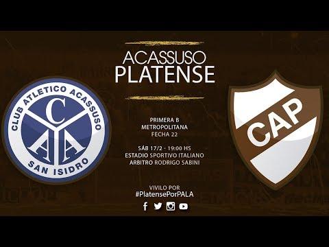 Acassuso - Platense | TRANSMISIÓN EN VIVO | Fecha 22 | Campeonato 2017/2018