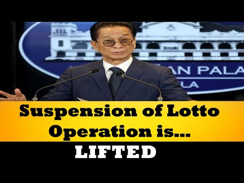 President Duterte Lifts Suspension Of Lotto Operations Effective Immediately – Panelo