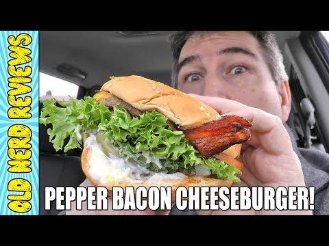Burgerville Pepper Bacon Cheeseburger - Fan Sponsored REVIEW 🥓🍔