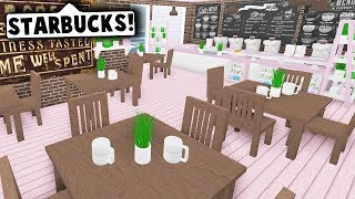 I MADE A STARBUCKS IN MY MALL ON BLOXBURG! (Roblox)
