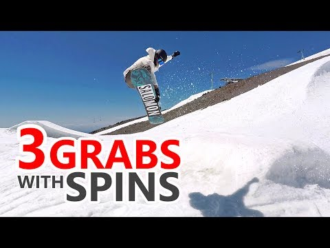 3 Easy Grabs With Spins - Snowboarding Trick Tutorial