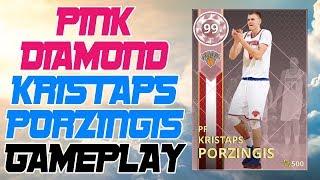 5b8c26a87 PINK DIAMOND KRISTAPS PORZINGIS GAMEPLAY - DEMIGOD! NBA 2K18 ...