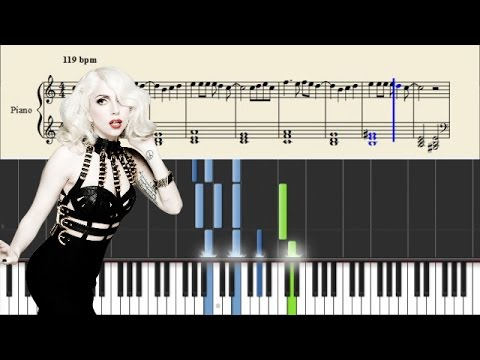 Lady Gaga - Bad Romance - Piano Tutorial + SHEETS