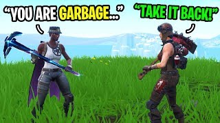 This rare RECON EXPERT challenged me to a 1v1 in Fortnite... (I ACCEPTED!)