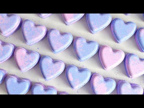Making Heart- Shaped Coconut Milk Bath Bombs/Fizzies | MO River Soap