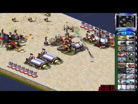 Ra2 Command & Conquer: Red Alert 2 - 1 vs 7 ( Map seahore city)  ( Mod Rule AI and super weapon )
